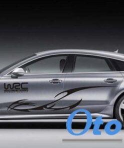 Tem decal WRC dán sườn xe ô tô mẫu 03 thể hiện cá tính