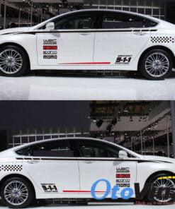 Bộ tem decal WRC 911 dán sườn xe ô tô mẫu 05