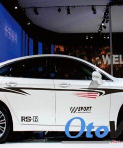 Bộ tem decal RS-R SPORT dán sườn xe ô tô mang lại vẻ đẹp mới cho xế yêu