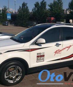 Với bộ tem dán sườn xe ô tô RS-R racing sport chắc chắn sẽ làm khách hàng hài lòng