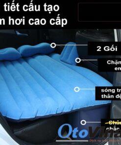Giường hơi ô tô Oxford được làm bằng vật liệu vải poly vinyl tạo cảm giác mát mẻ êm ái.