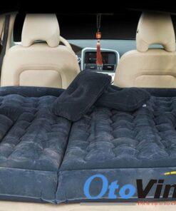 Giường hơi ô tô cho xe SUV bằng nhung cao cấp màu đen
