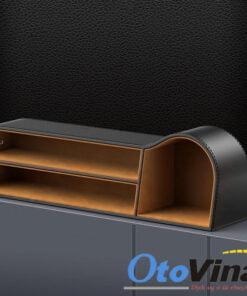 • Khay để đồ khe ghế ô tô Baseus hộp bọc da sang trọng tiện lợi