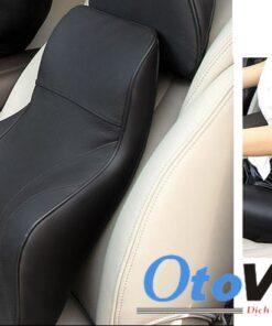 Bộ gối đầu tựa lưng ô tô cao su non bọc da cao cấp mẫu 4