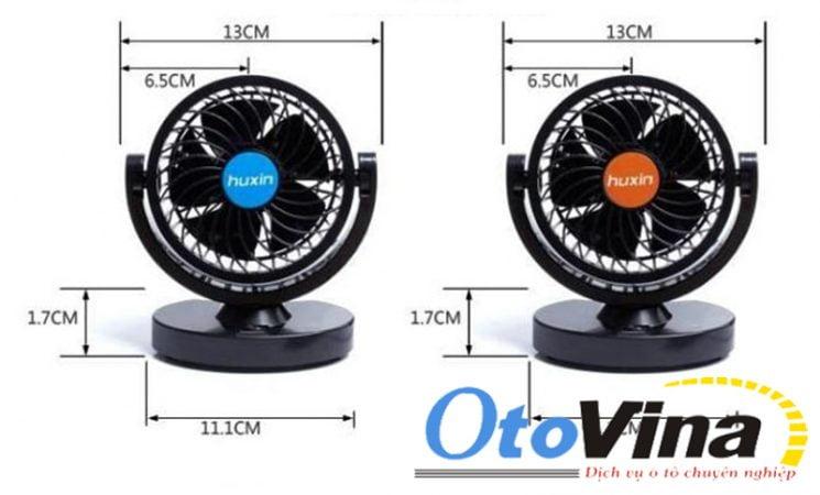 Thông số quạt mini 12V, 24V siêu bền cho xe hơi