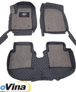 Thảm lót sàn 6D Kia 2021 thiết kế riêng cho từng dòng xe Kia sẽ đảm bảo phủ kín và bảo vệ được 99,9% bề mặt sàn xe