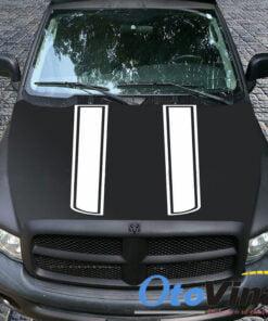 Dải tem dán trang trí nắp capo ô tô mẫu 222 mang lại vẻ đẹp thể thao
