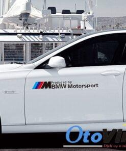 Tem dán sườn xe ô tô BMW Motor Sport mẫu 20 mang đến vẻ đẹp ấn tượng