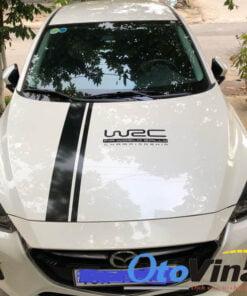 Tem dán mui xe ô tô WRC và dải trang trí phần đầu xe