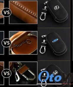 Bao da chìa khóa ô tô có khóa kéo mẫu 2