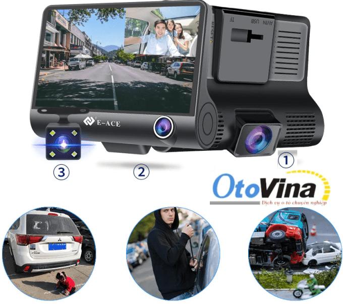 Camera hành trình Carcam B8 với bộ cảm ứng chuyển động xung quanh xe