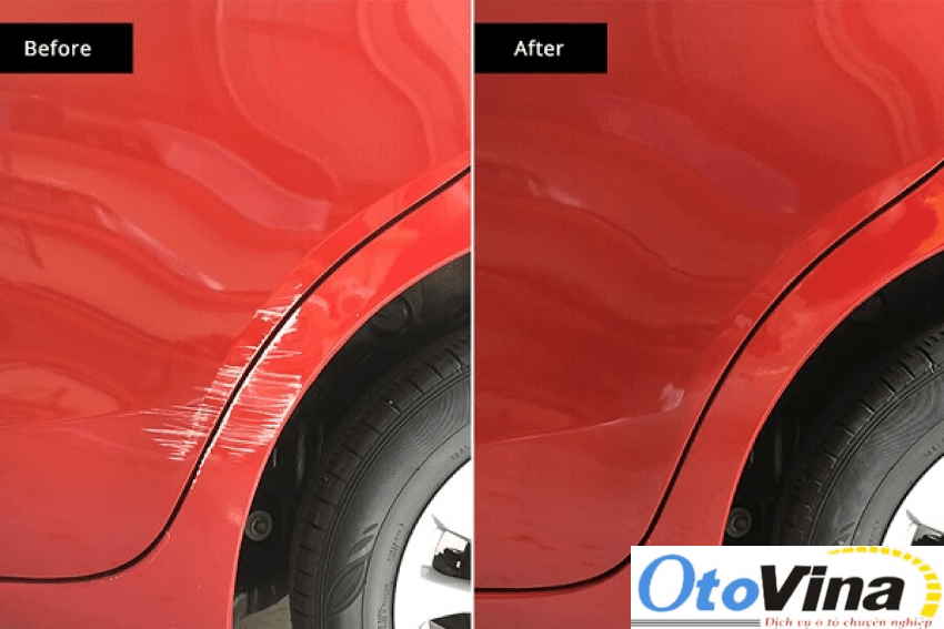 Xe ô tô trước và sau khi được sơn dặm mới